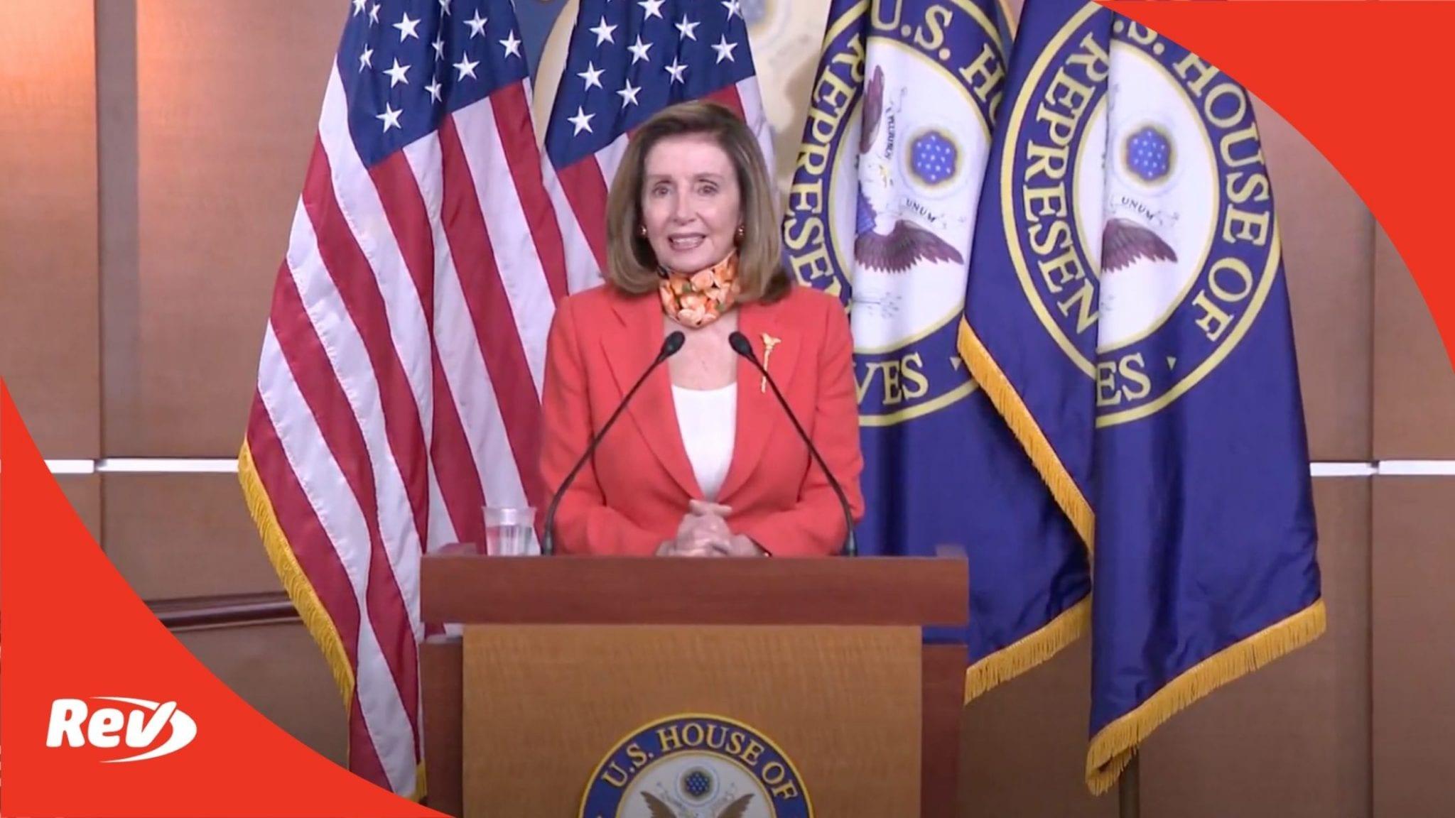 Nancy Pelosi Press Conference Transcript September 24