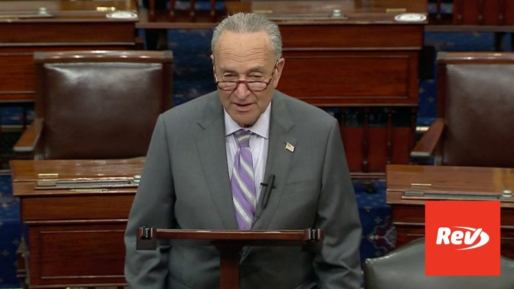 Chuck Schumer COVID-19 Relief Remarks Transcript September 9