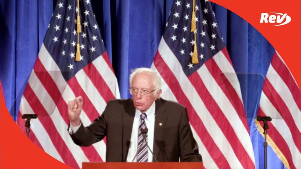Bernie Sanders Speech Transcript: 'Trump's Threat to Our Democracy'