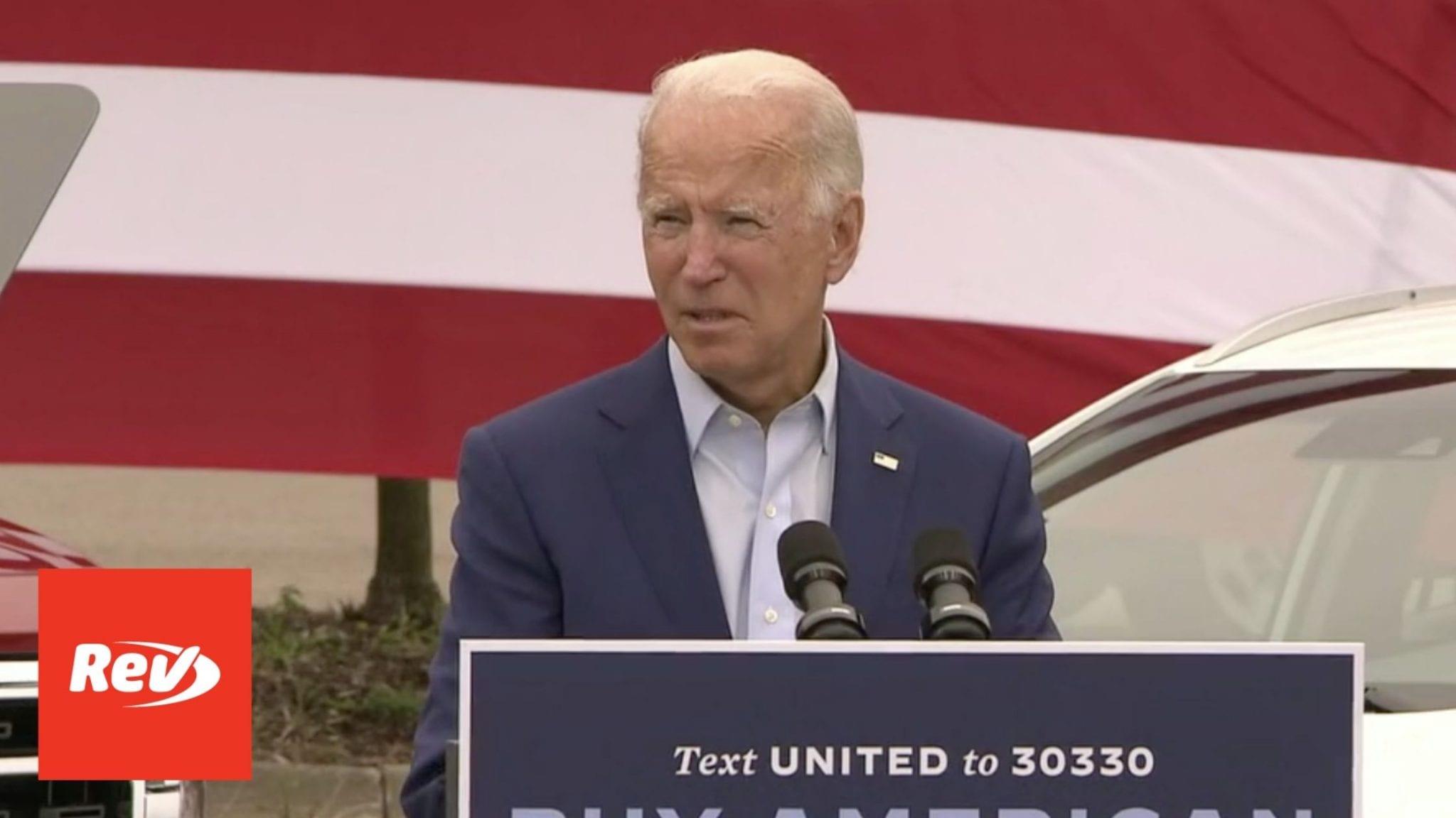 Joe Biden Speech Transcript Warren, Michigan September 9