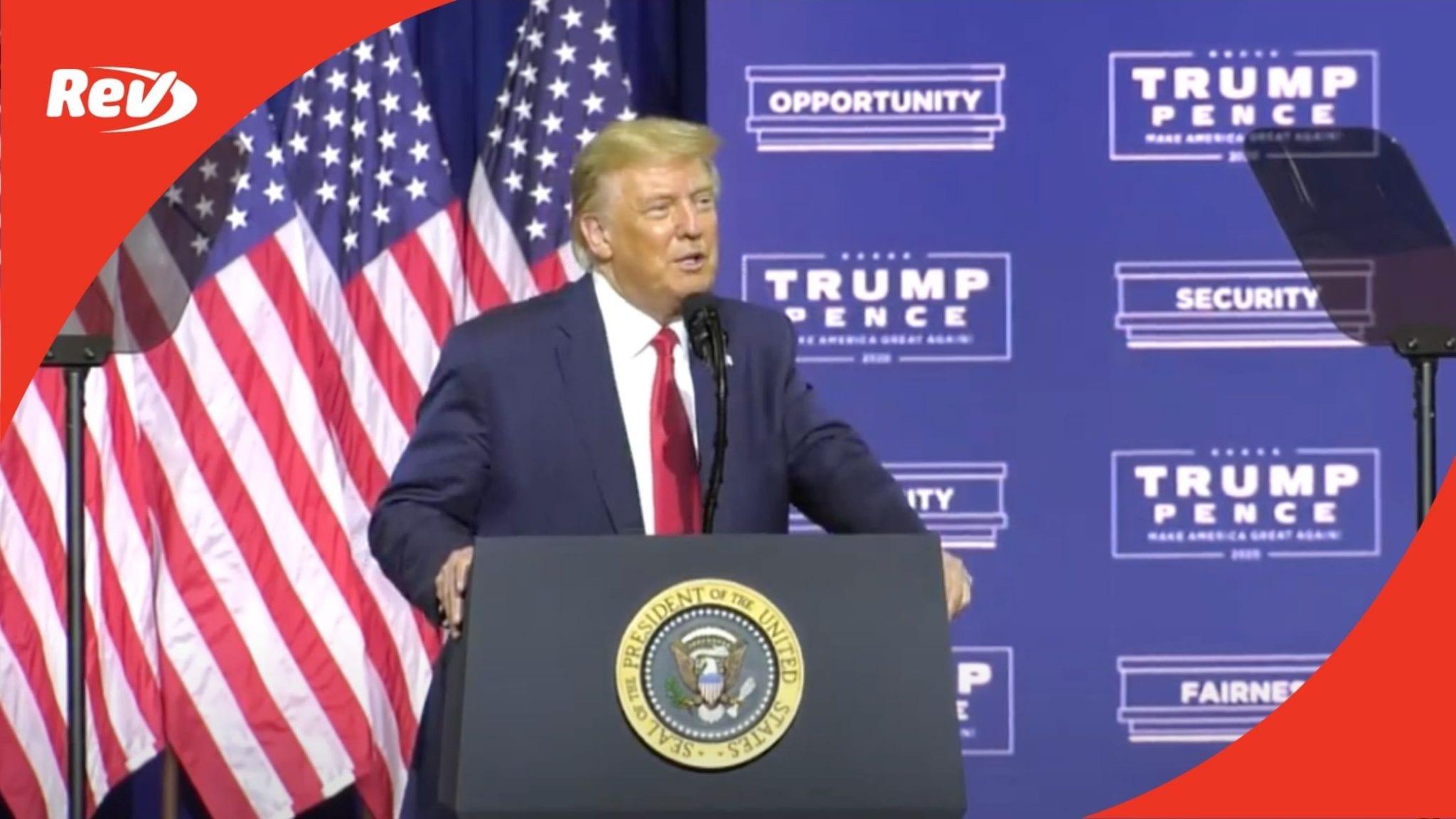 Donald Trump 'Black Economic Empowerment' Speech Transcript September 25