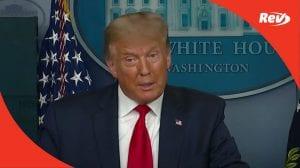Donald Trump Press Conference Transcript September 10: Coronavirus, Bob Woodward Recording