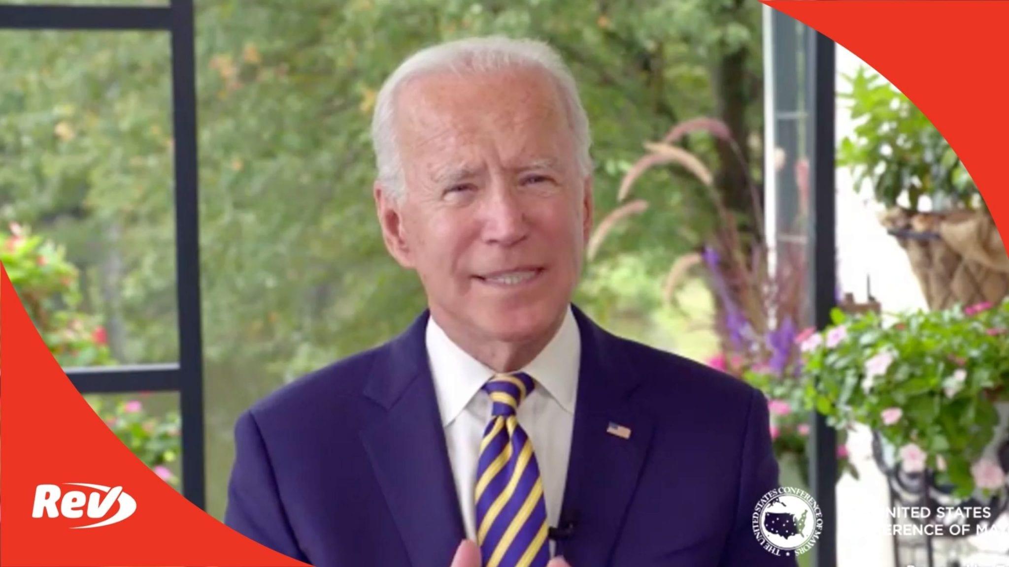 Joe Biden Remarks Transcript September 26: US Conference of Mayors