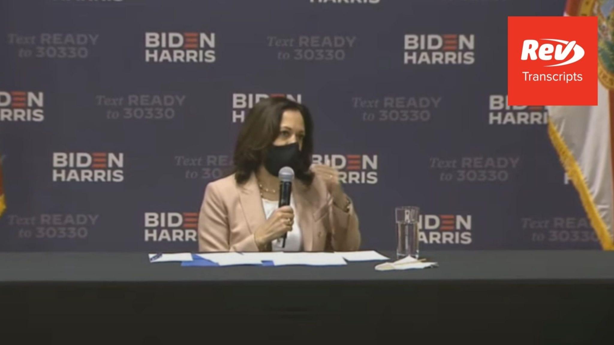 Kamala Harris Miami, FL Community Conversation Transcript September 10