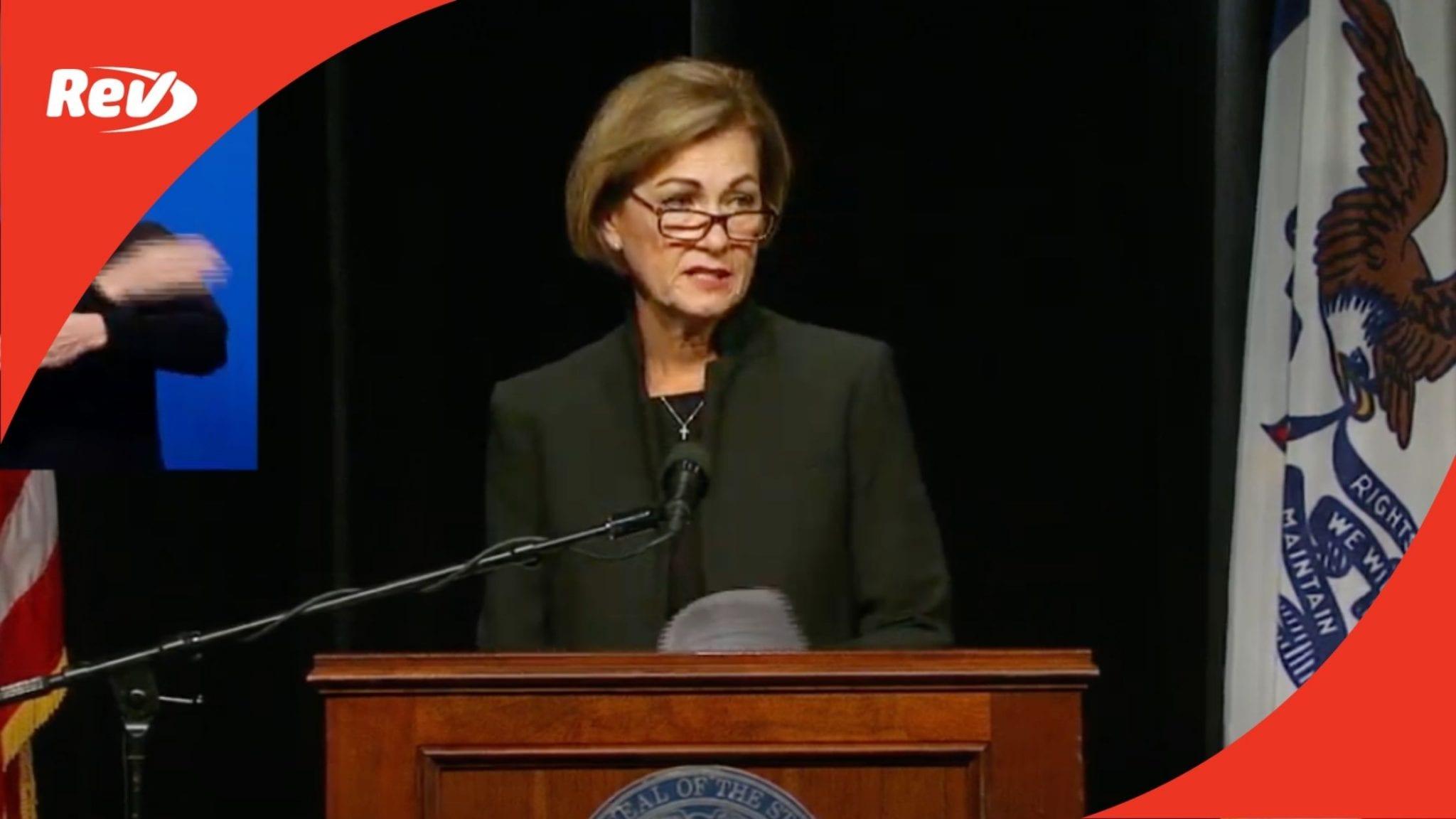 Iowa Gov. Kim Reynolds Press Conference Transcript September 29