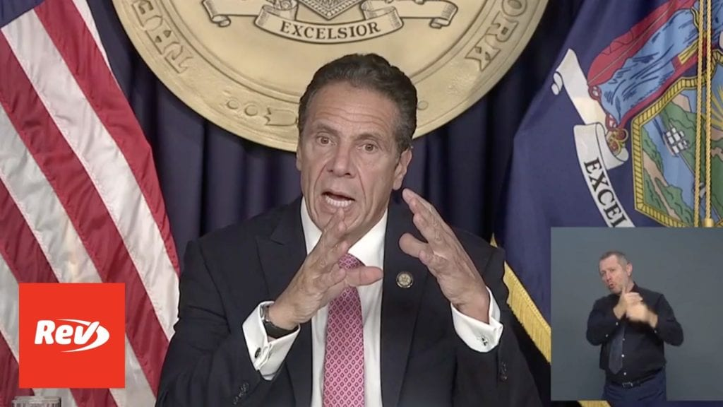 New York Gov. Andrew Cuomo Press Conference Transcript September 29