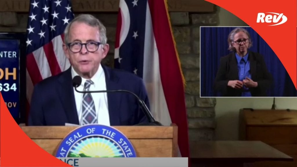 Ohio Governor Mike DeWine Press Conference Transcript September 29