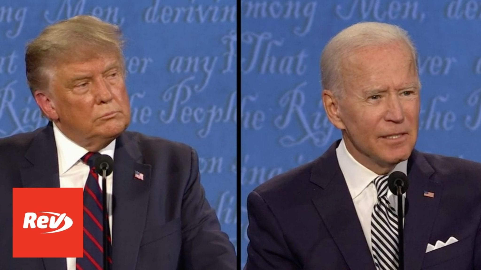 Donald Trump Joe Biden 1st Presidential Debate Transcript 2020 Rev