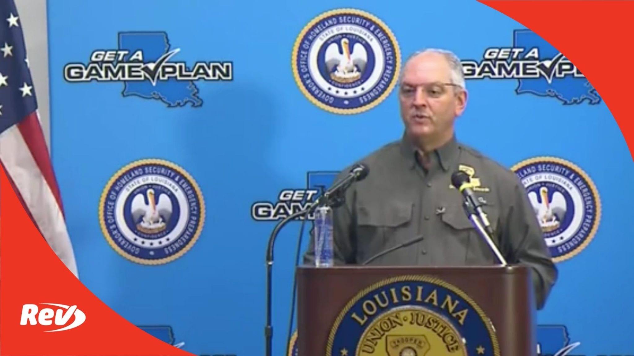 Louisiana Gov. John Bel Edwards Press Conference Transcript September 14: Hurricane Sally