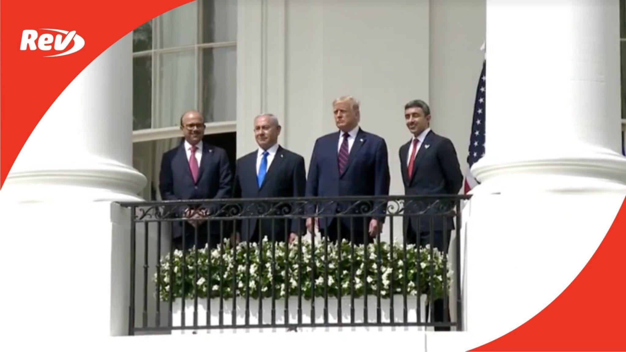 Abraham Accords Signing Ceremony Transcript September 15
