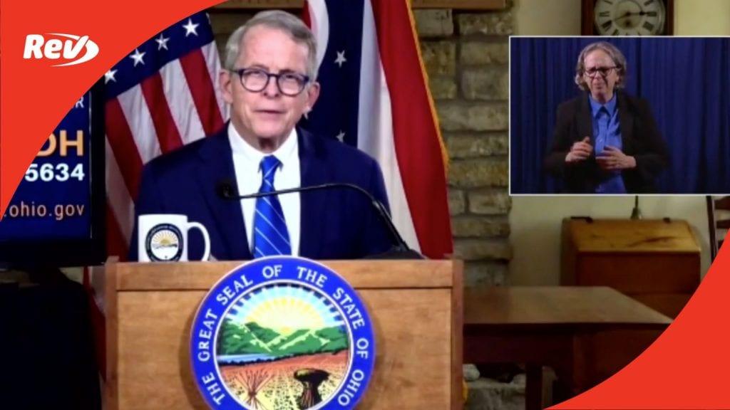 Ohio Governor Mike DeWine Press Conference Transcript September 15