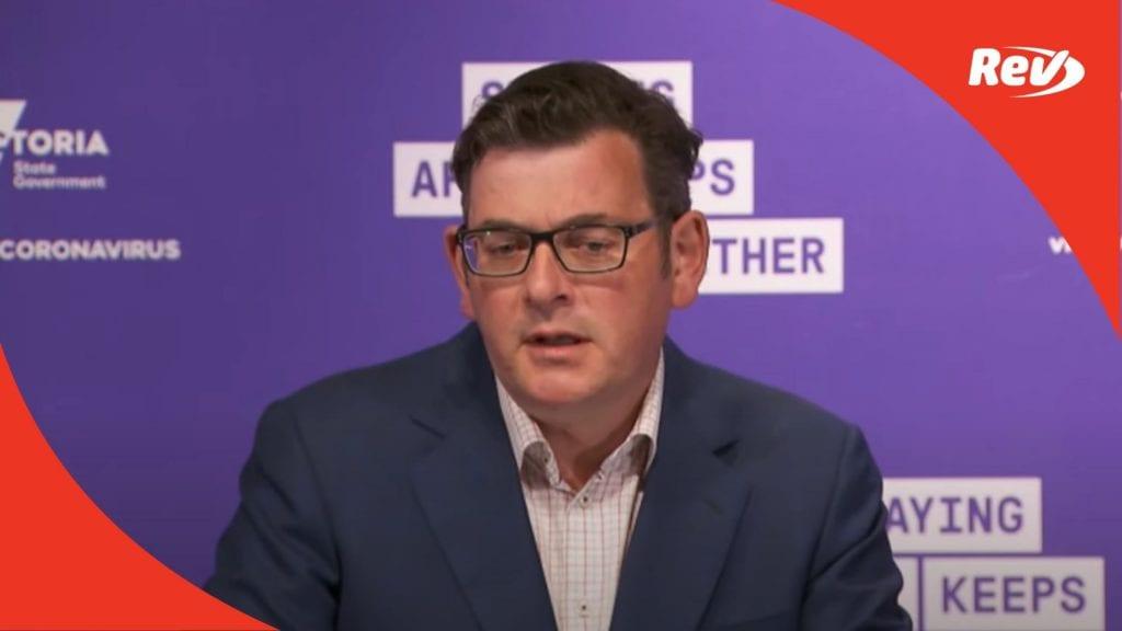 Dan Andrews October 12 Press Conference Transcript