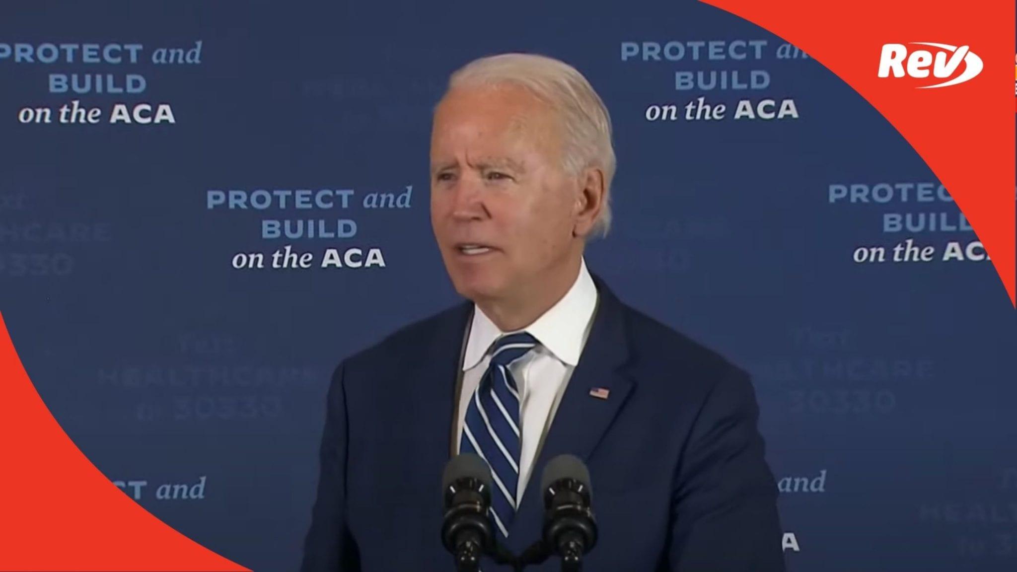 Joe Biden Southfield, MI Speech on Healthcare