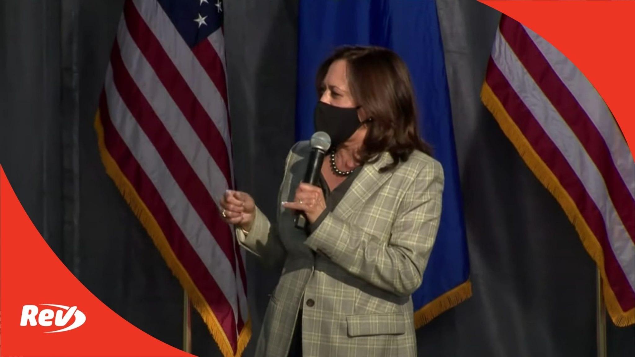 Kamala Harris Nevada Event Transcript