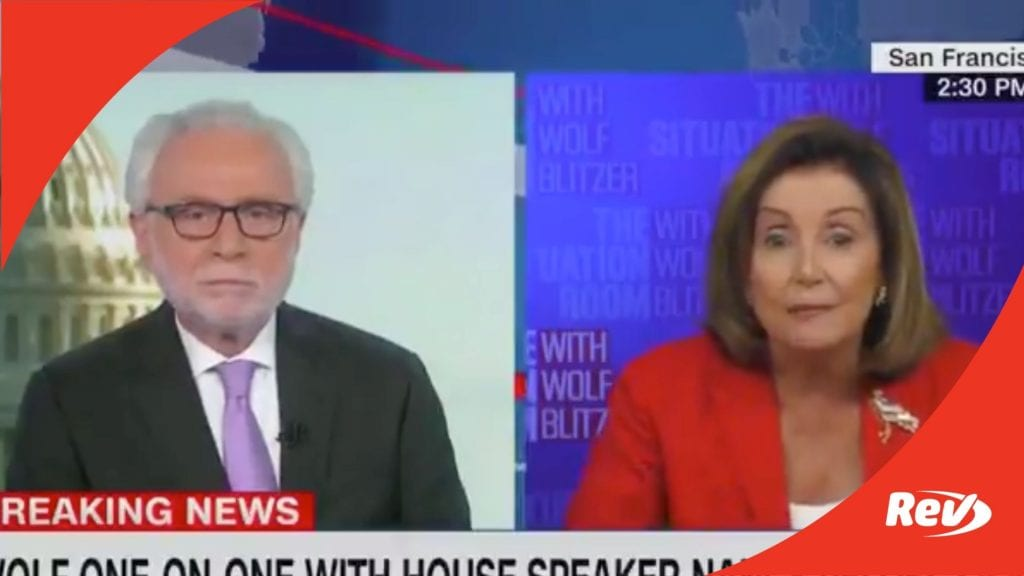 Nancy Pelosi Wolf Blitzer Heated Interview Transcript Stimulus