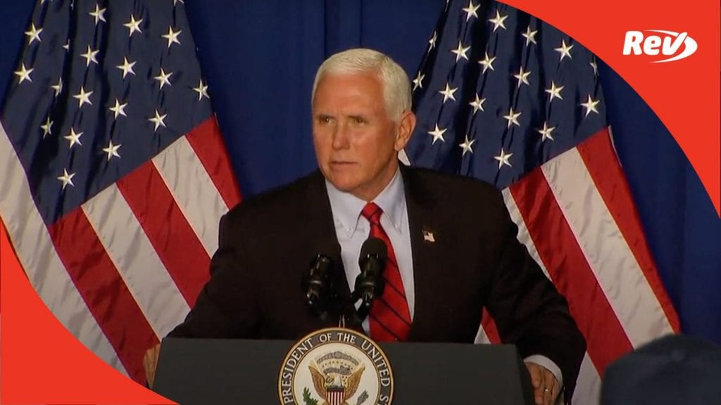 Mike Pence Fort Wayne, Indiana Campaign Speech Transcript October 22