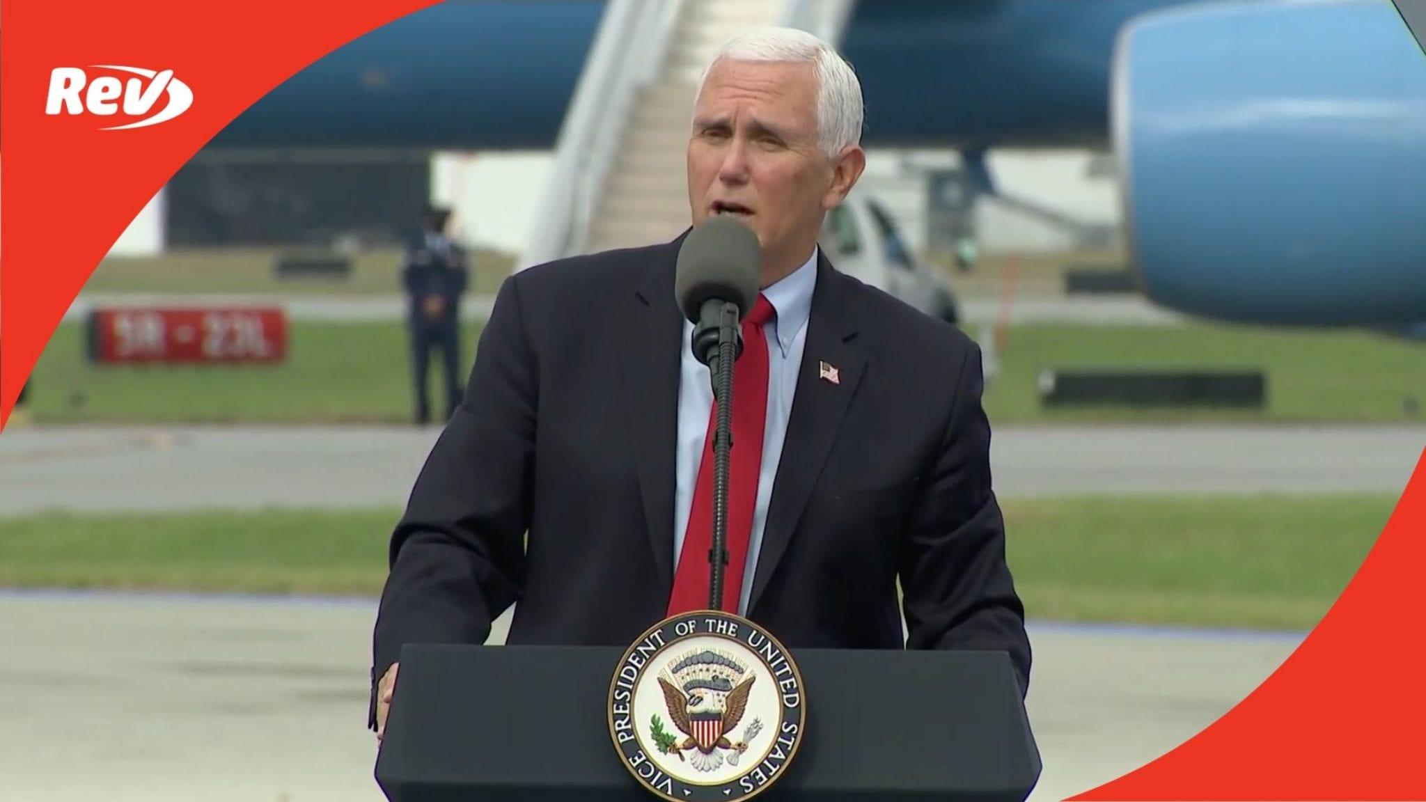 Mike Pence Campaign Speech Transcript Greensboro, NC October 27