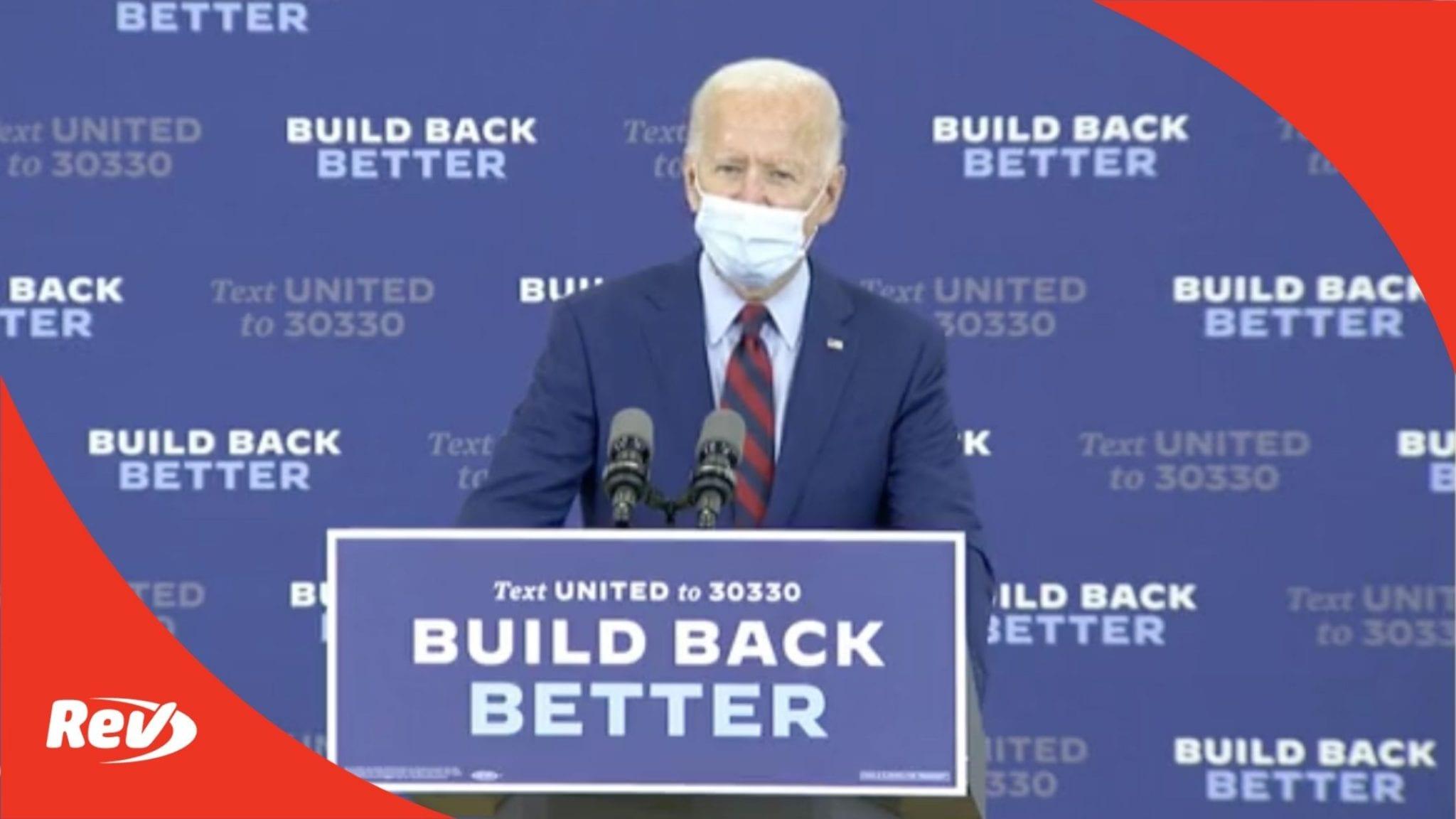 Joe Biden Miami Campaign Speech Transcript October 5