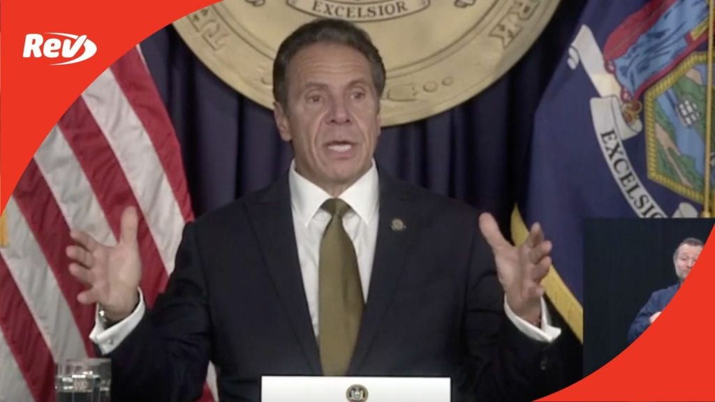 New York Gov. Andrew Cuomo Press Conference Transcript October 5
