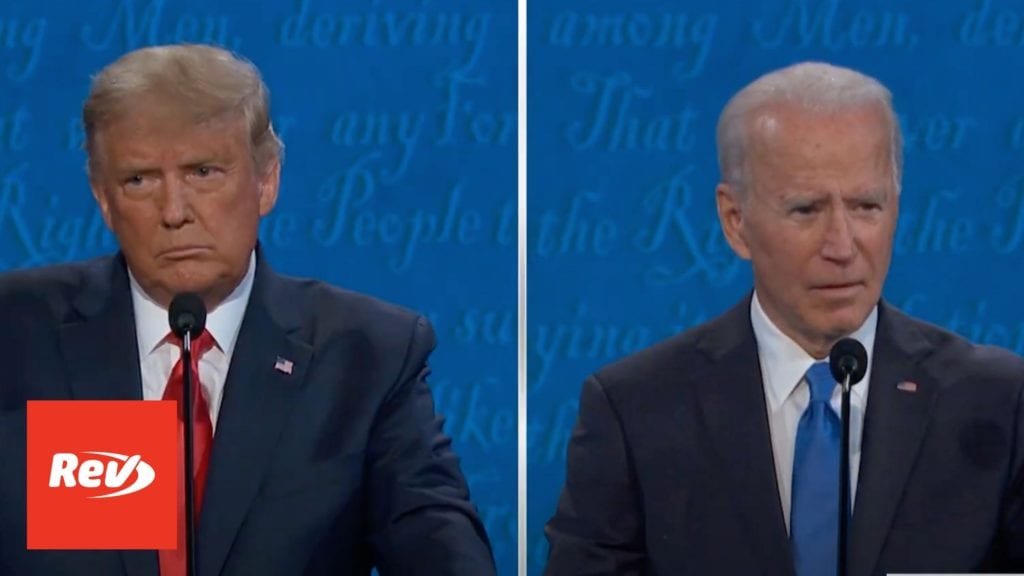 Donald Trump & Joe Biden 2nd Presidential Debate Transcript 2020