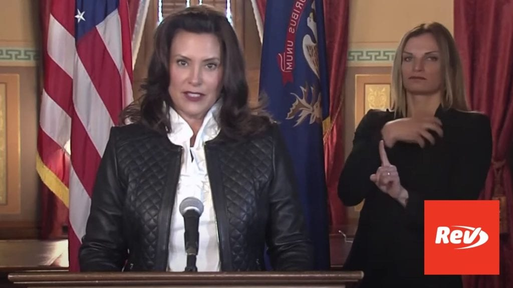 Michigan Gov. Gretchen Whitmer Response to Busted Kidnapping Plot Transcript October 8