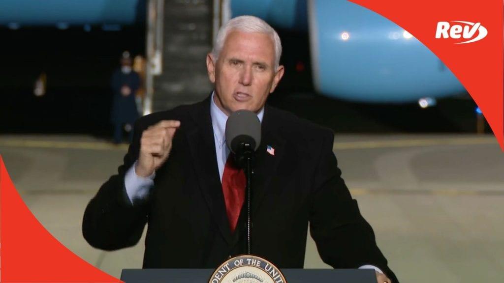 Mike Pence Campaign Speech Transcript Flint, Michigan October 28