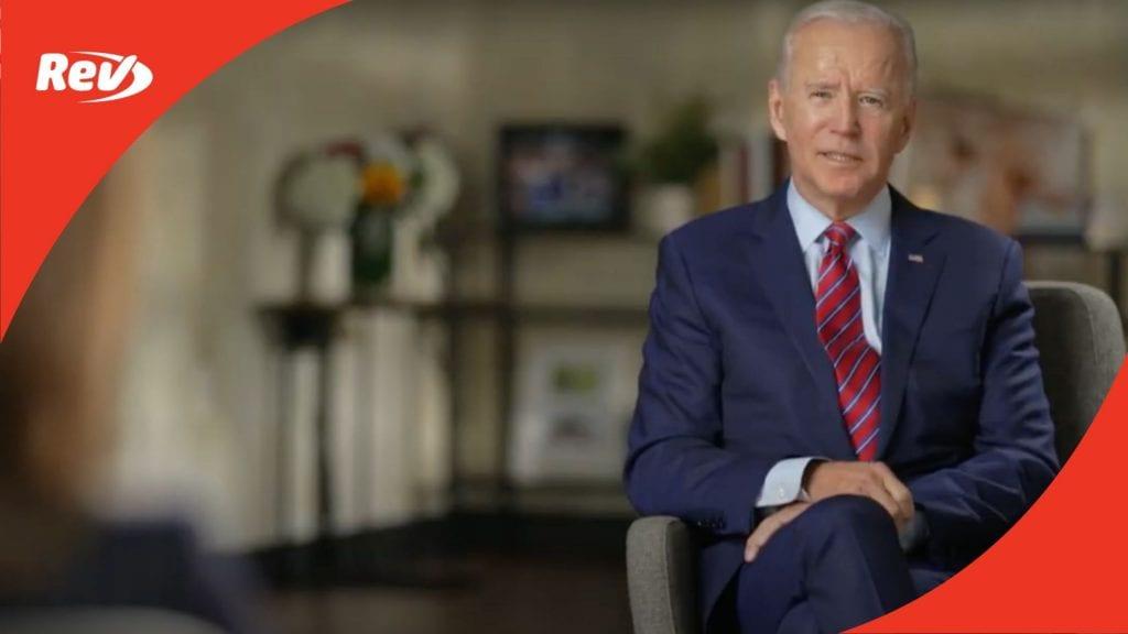 Joe Biden 60 Minutes Interview Transcript