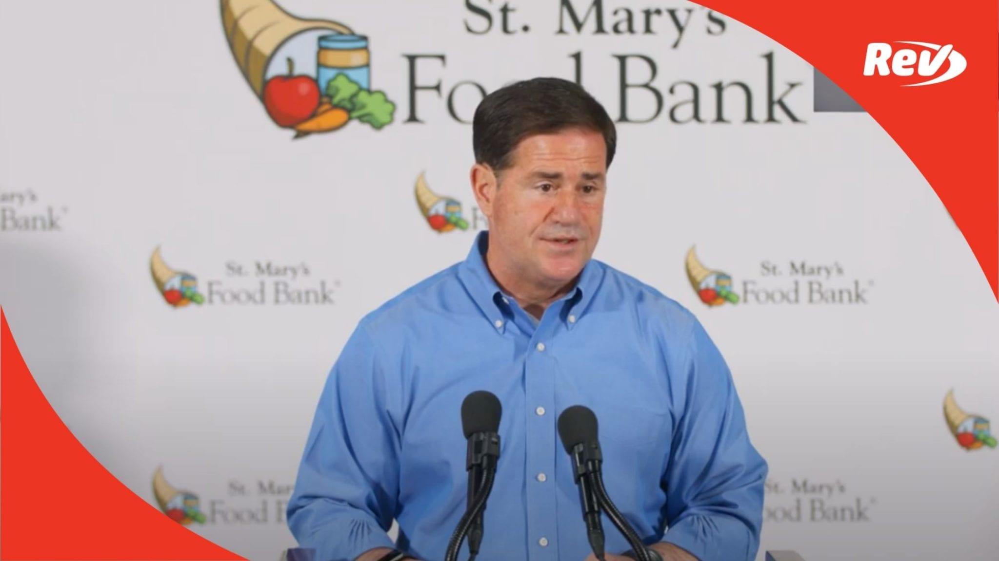 Arizona Gov. Doug Ducey Covid-19 Press Conference Transcript October 29