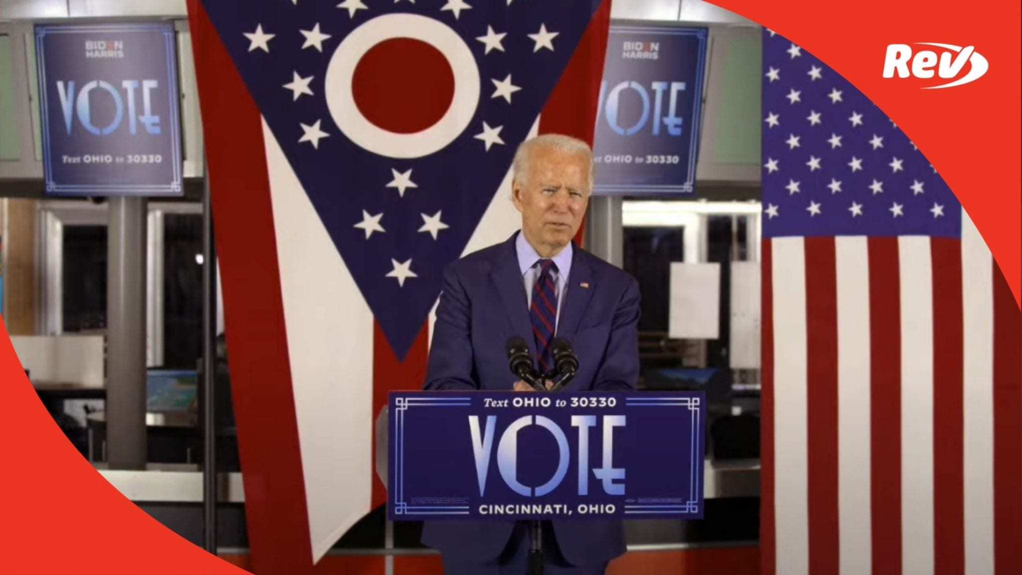 Joe Biden Campaign Speech Cincinnati Museum Center Transcript October 12