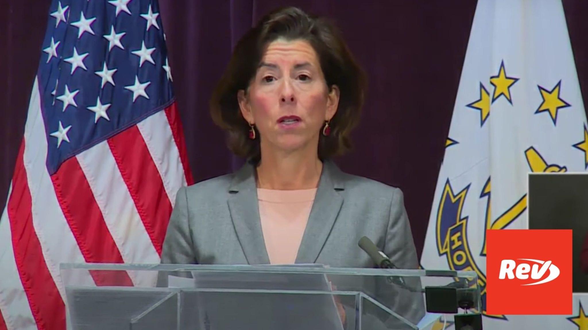 Rhode Island Gov. Gina Raimondo COVID-19 Press Conference Transcript October 30