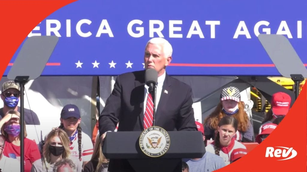 Mike Pence Campaign Event Speech Transcript Flagstaff, Arizona October 30