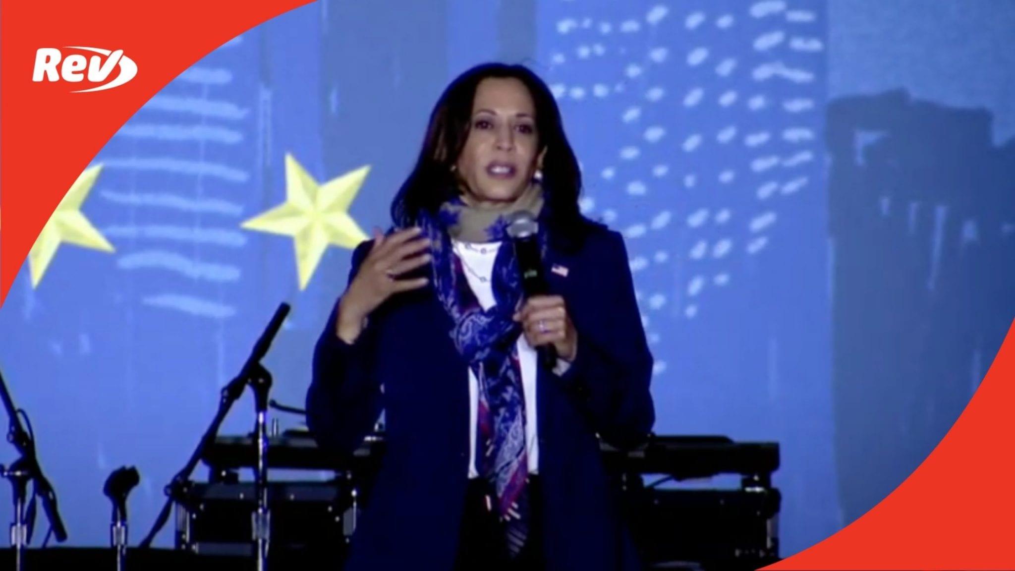 Kamala Harris Campaign Event Speech Transcript Houston, TX October 30