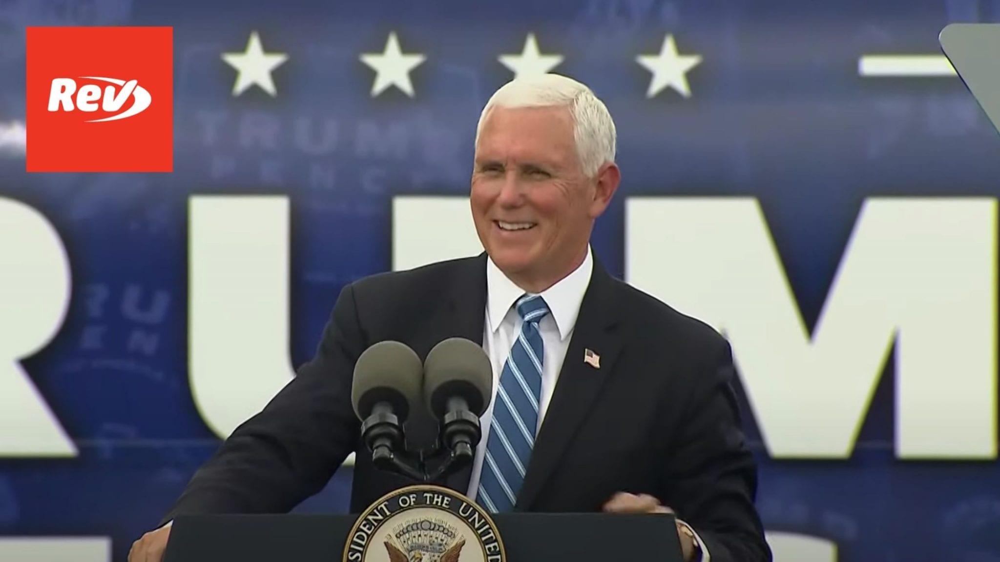 Mike Pence Campaign Speech Miami Transcript October 15