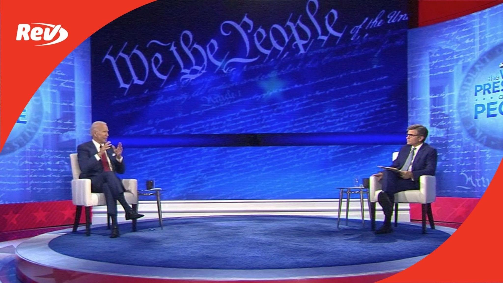 Joe Biden ABC Town Hall Transcript October 15