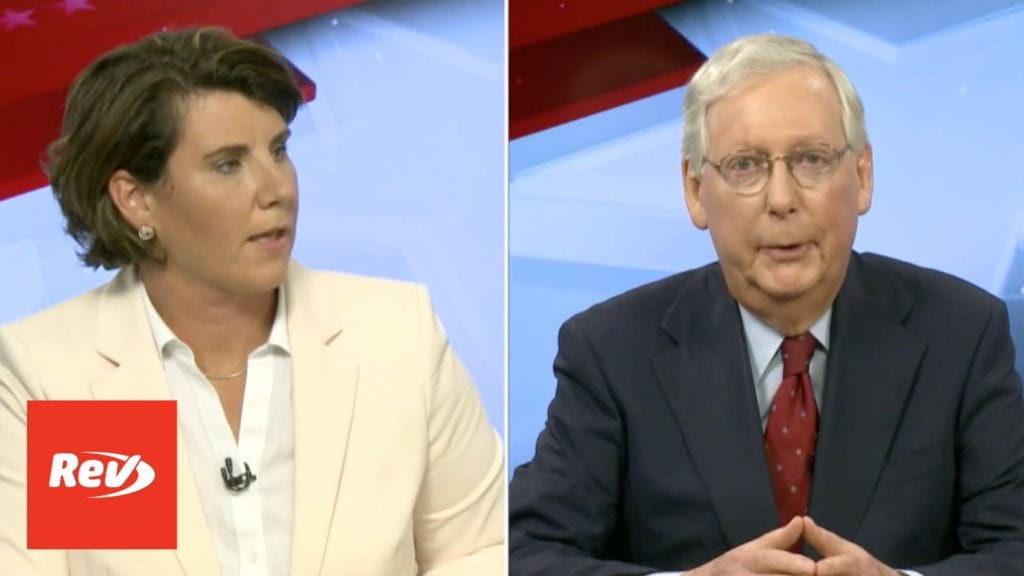 Amy McGrath vs. Mitch McConnell Debate Oct 12