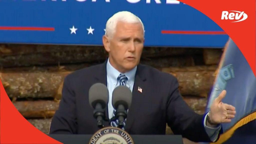 Mike Pence Campaign Speech Transcript Hermon, Maine October 19