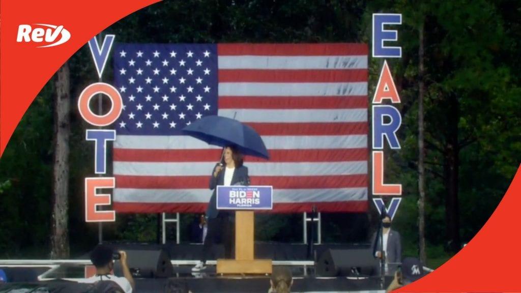 Kamala Harris Campaign Speech Transcript Jacksonville, FL October 19