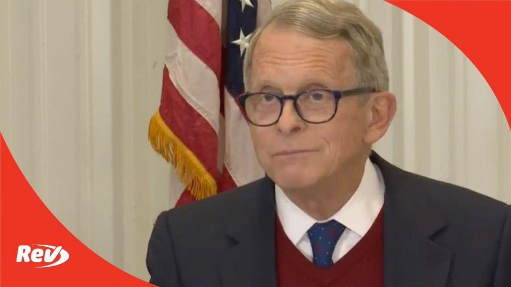 Ohio Governor Mike DeWine Press Conference Transcript October 19