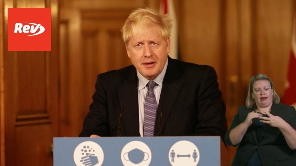 UK Prime Minister Boris Johnson Coronavirus Press Conference Transcript October 20