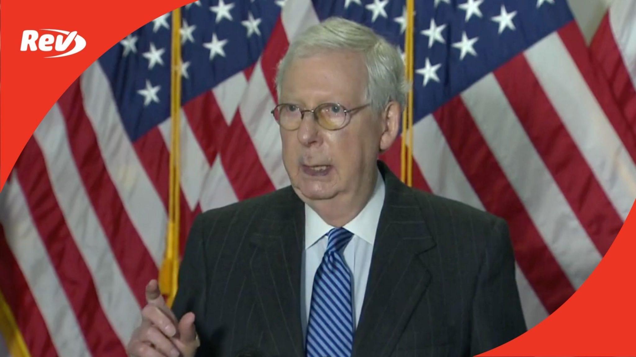 GOP Senate Leadership Press Conference Transcript October 20