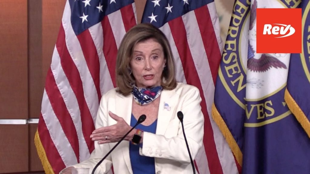 Speaker Nancy Pelosi Press Conference Transcript October 1