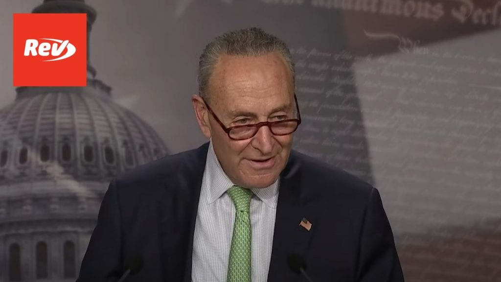 Chuck Schumer Press Conference on Healthcare Transcript October 1