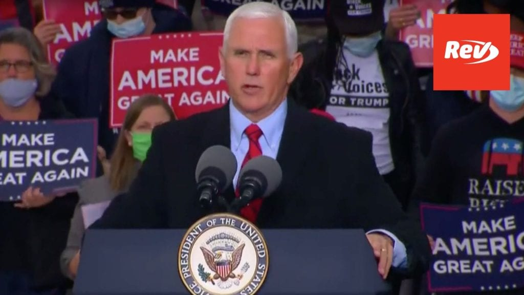 Mike Pence Michigan Campaign Rally Transcript October 22