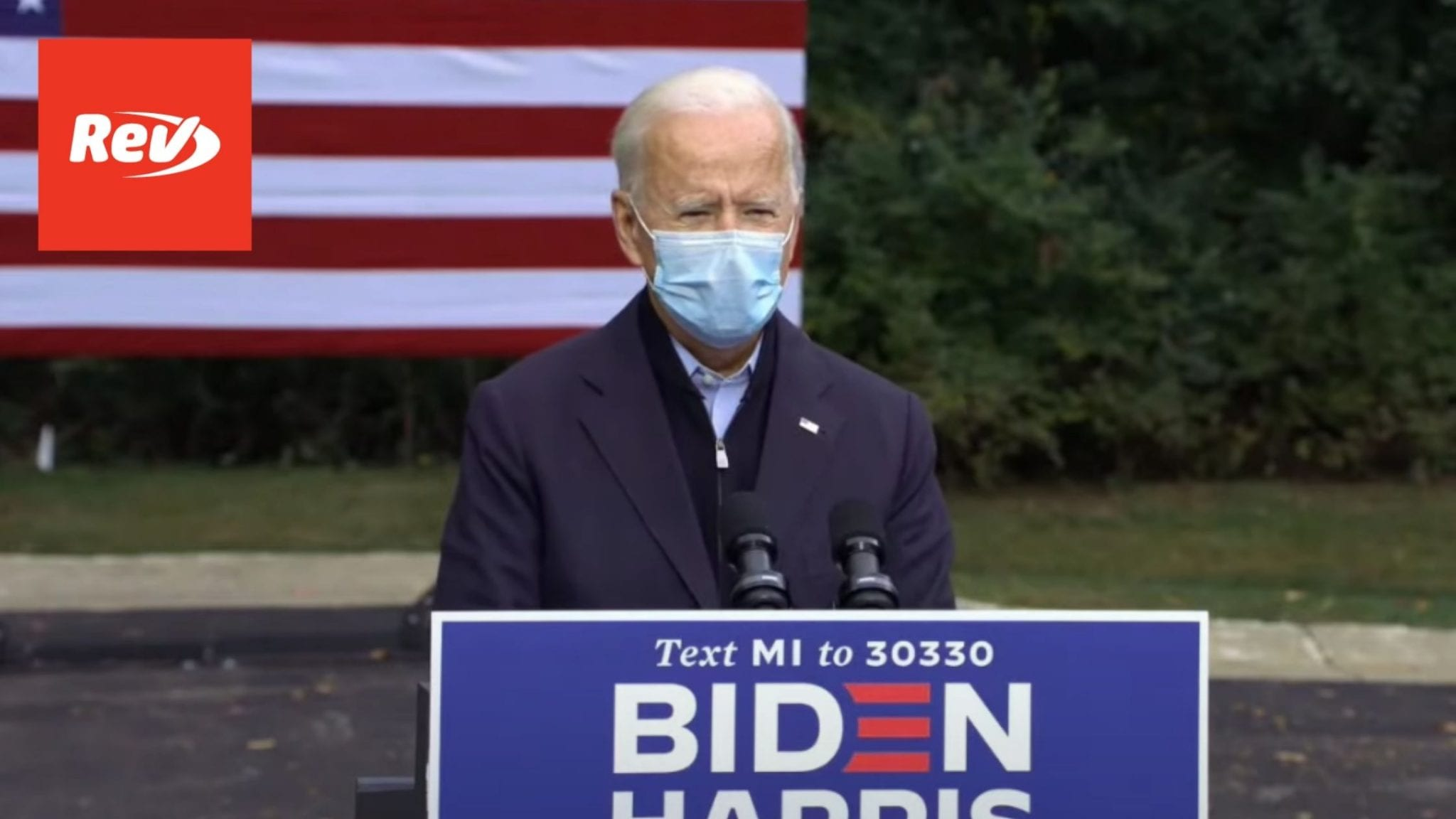 Joe Biden Grand Rapids, Michigan Speech Transcript October 2