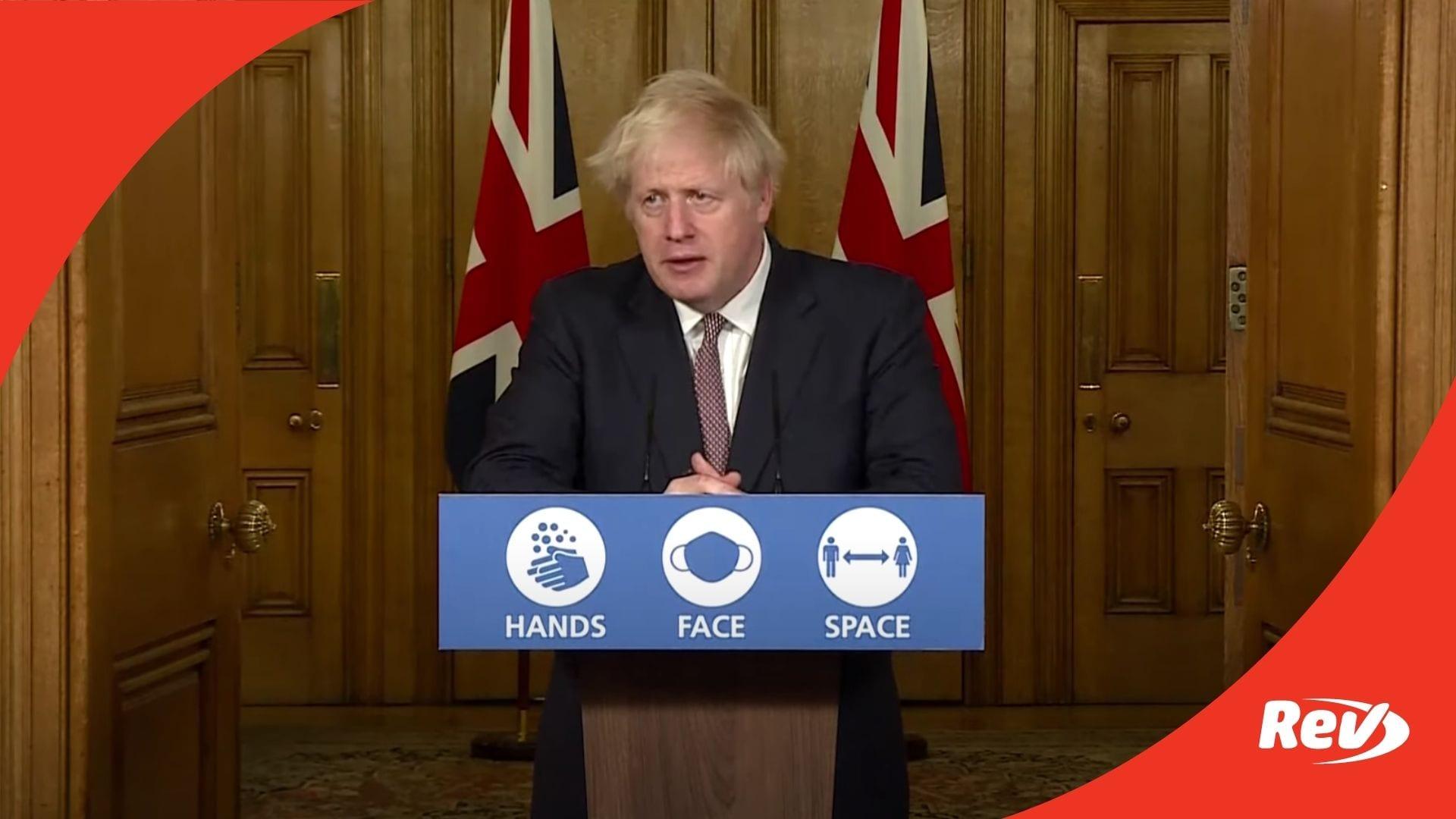Boris Johnson Coronavirus Update November 26