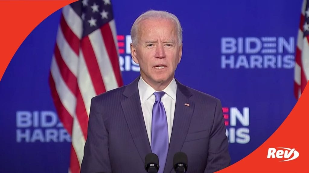 Joe Biden November 6 Speech
