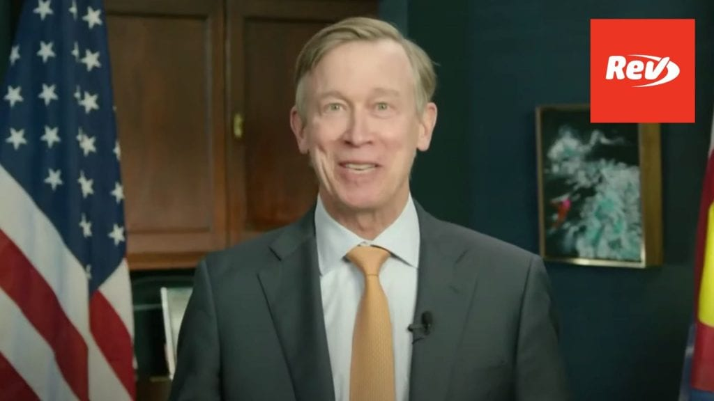 John Hickenlooper Colorado Senate Victory Speech Transcript