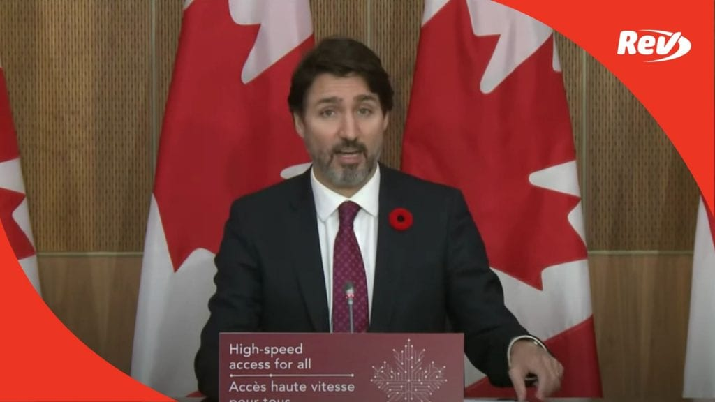 Justin Trudeau on High Speed Internet Goal and Coronavirus vaccine