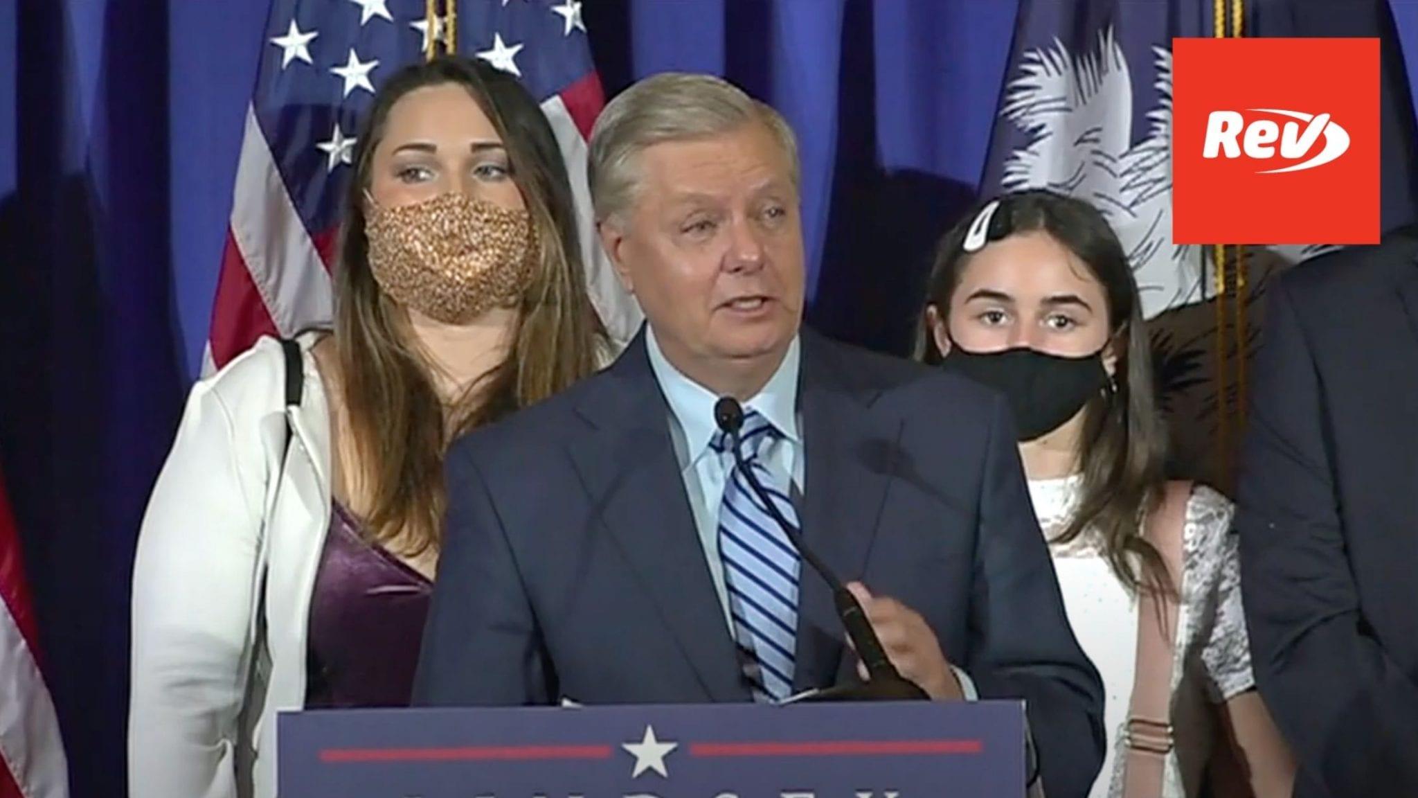 Lindsey Graham Vicctory Speech Transcript 2020