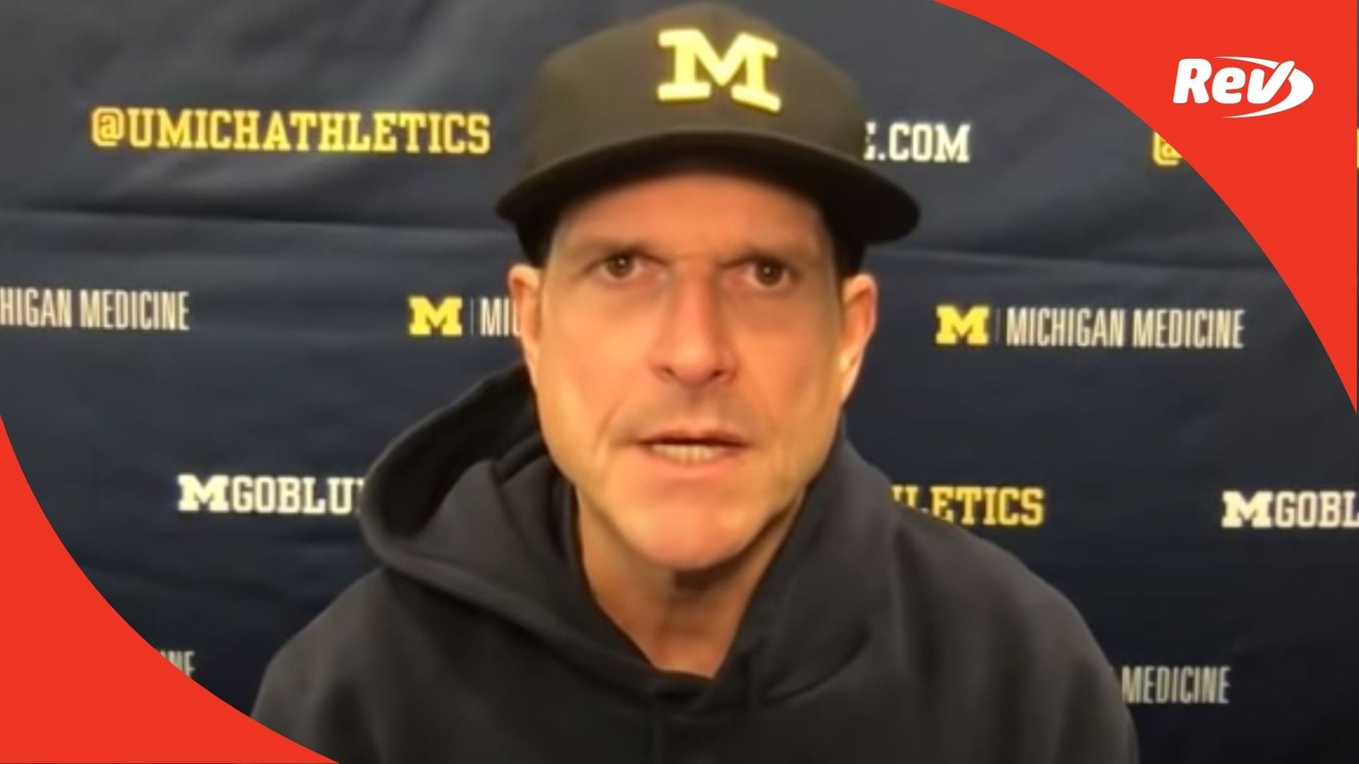 Michigan Coach Jim Harbaugh Press Conference after Penn State Loss